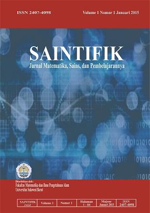 Saintifik - Jurnal Matematika, Sains, dan Pembelajarannnya